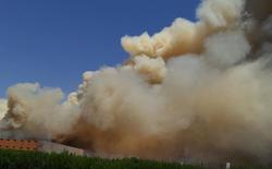 اندلاع حريق هائل بمخازن في اربيل