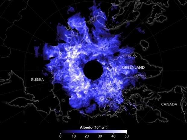 صور| ظاهرة طبيعية.. نار زرقاء من الياقوت فوق القطب الشمالي