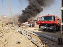 مكافحة حريق ببغداد بمشاركة 13 فريق اطفاء