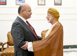 """بغداد ومسقط يعولان على """"دور مؤثر"""" في المنطقة وصالح يشيد بخطوة """"ايجابية"""""""