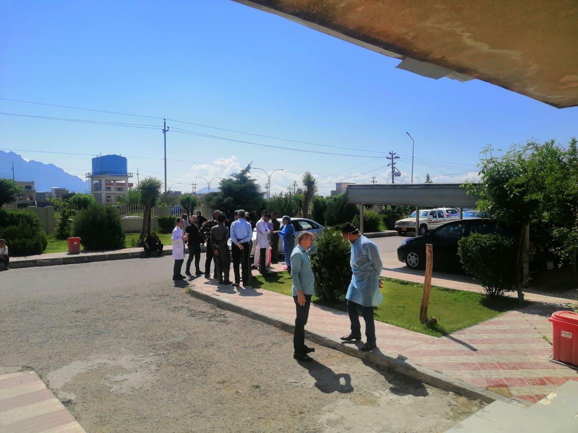 كارمهندهيل تهندروستى له ههرێم كوردستان لهوهر دوياكهفتن مووچهيليان گردبوينهوه