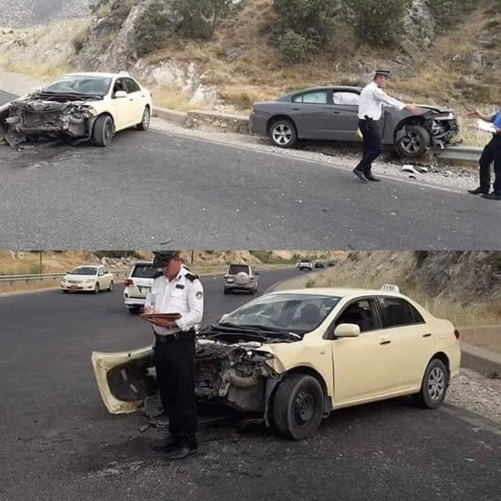 صورة .. اصابة خمسة اشخاص بحادث في دهوك