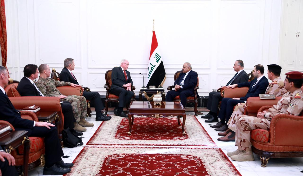 """عبد المهدي يبحث مع مبعوث امريكي """"القضاء على بقايا داعش"""""""