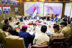 عبدالمهدي يجتمع مع الحلبوسي وقادة كبار لبحث حفظ الامن والنظام