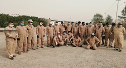 عاملون بشركة بريطانية جنوبي العراق يجتجون مجددا ويهددون بالتصعيد