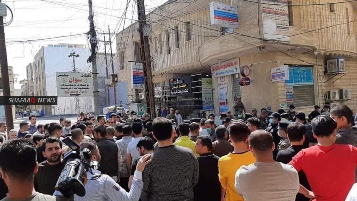 صور .. اصحاب محال خدمات صيانة السيارات يعتصمون في اربيل