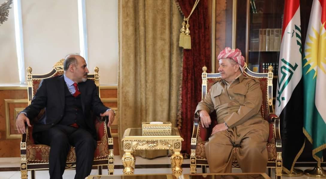 """بارزاني يخطر """"رئيس تيار الغد"""" بما يتعرض له الشعب الكوردي في سوريا"""