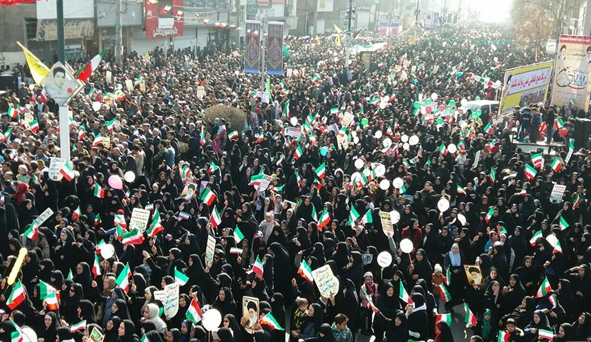 Mass rallies in Iran at the anniversary of the revolution