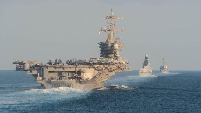 ترامب يأمر المارينز بتدمير أي زورق إيراني يعترض السفن الأميركية