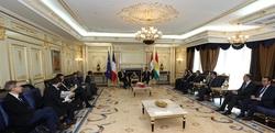 وزير الخارجية الفرنسي يجري مباحثات باربيل مع زعيم كوردي ورئيس الحكومة