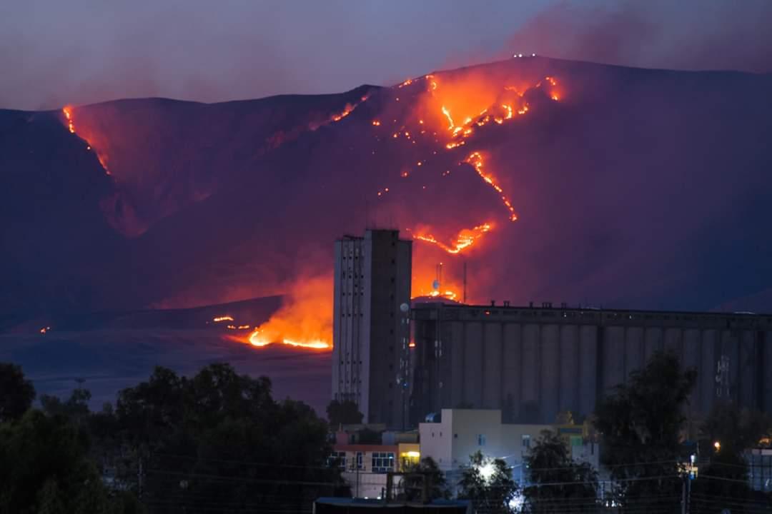 """خلال ايام وللمرة الثالثة .. داعش يضرم النيران بمساحات زراعية في """"قرجوغ"""""""