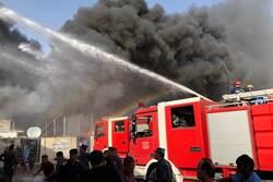 """اندلاع حريق داخل محطة """"النجباء"""" الفضائية وسط بغداد"""