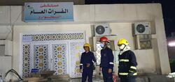 إندلاع حريق في مستشفى مخصص لعزل مصابي كورونا في بغداد.. صور