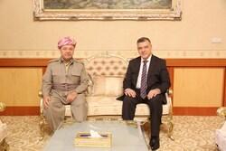 بارزاني يتبادل الآراء مع العاني حيال الاوضاع السياسية في العراق