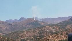 قصف تركي يتسبب باندلاع حرائق شمال دهوك