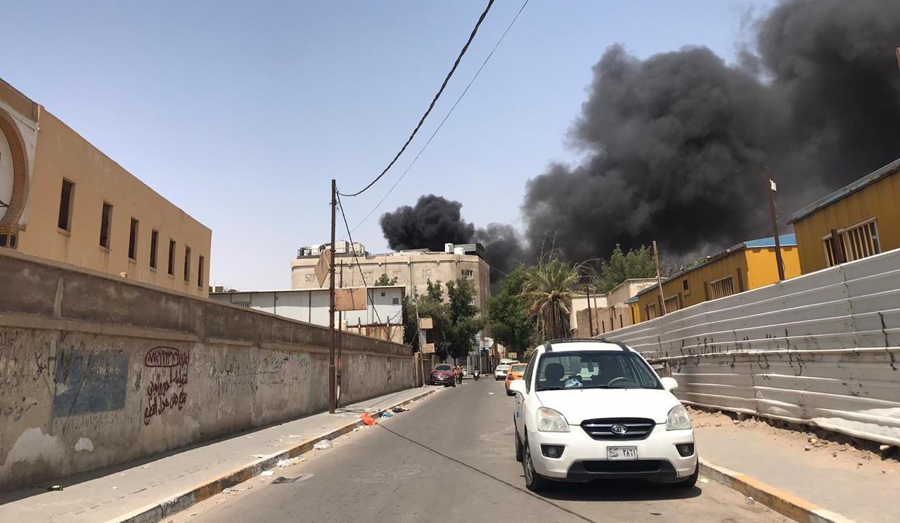 حريقان متزامنان في موانئ بالبصرة