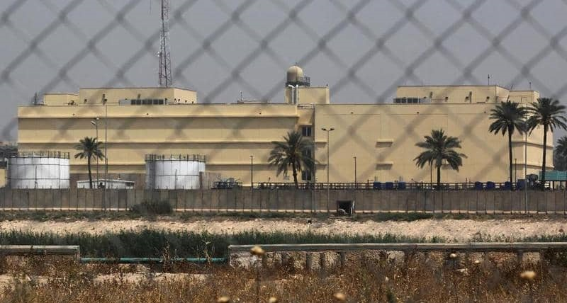 سقوط صواريخ قرب سفارة واشنطن في بغداد