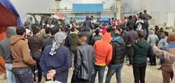 Thermal station closed by demonstrators , entry and exit of its employees prevented