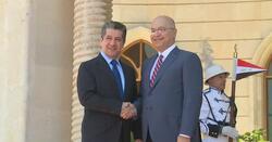 صالح وحسين يصلان مجلس وزراء الاقليم ويجتمعان مع بارزاني وطالباني