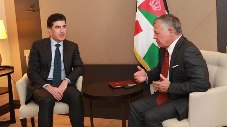 """الملك الاردني يهنئ """"الاخ العزيز"""" برئاسة كوردستان: سنمضي قدما بالعلاقة"""