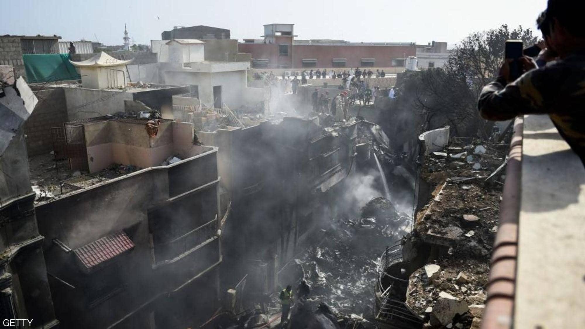 باكستان تعلن حصيلة ضحايا الطائرة المكنوبة