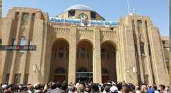 صور .. مئات الموظفين يحتجون بتظاهرتين في البصرة