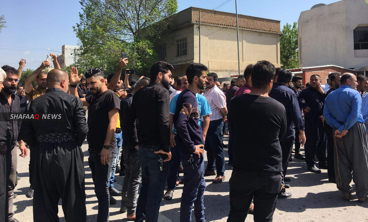 Photos... The first demonstration in Sulaymaniyah takes place after decreasing Corona prevention measures