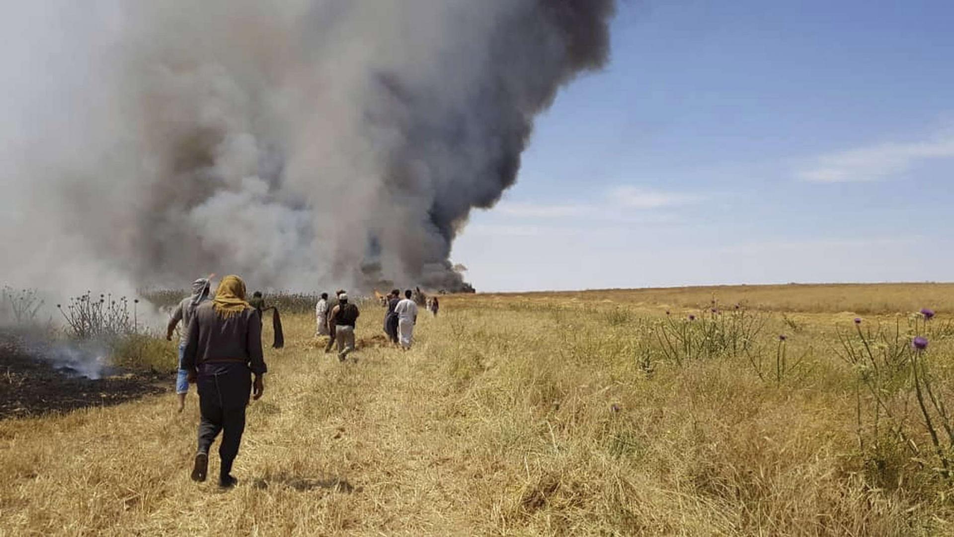 """""""نيران مجهولة"""" لازالت تلتهم مزارع الفلاحين في العراق"""