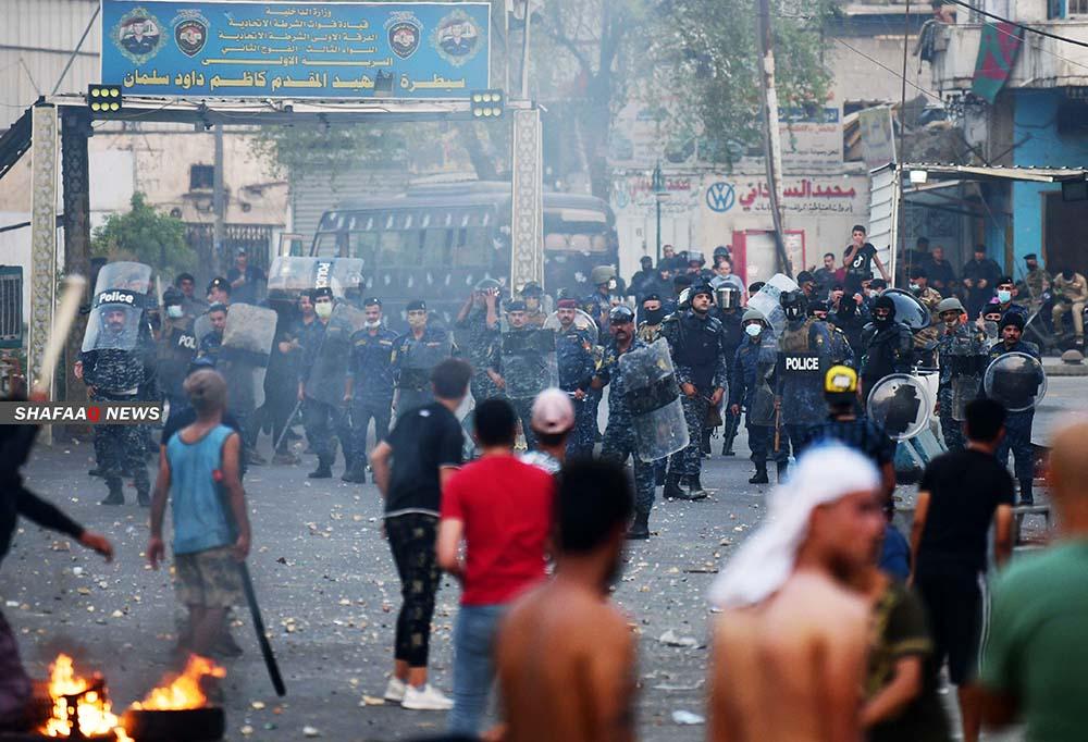 الداخلية العراقية: مجموعات اجرامية في ساحة التحرير تسعى للفوضى بين المتظاهرين والامن