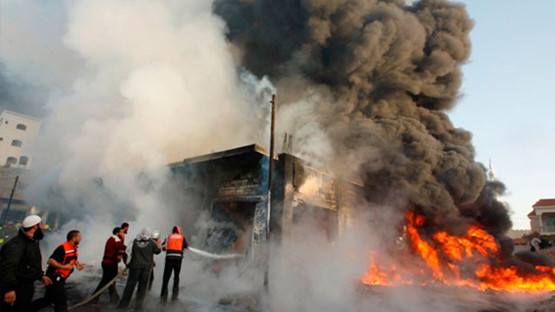 An explosion inside a bus in central Baghdad