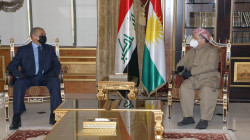 Masoud Barzani and Al-Ghanmi discuss the security situation of areas outside Kurdish administration