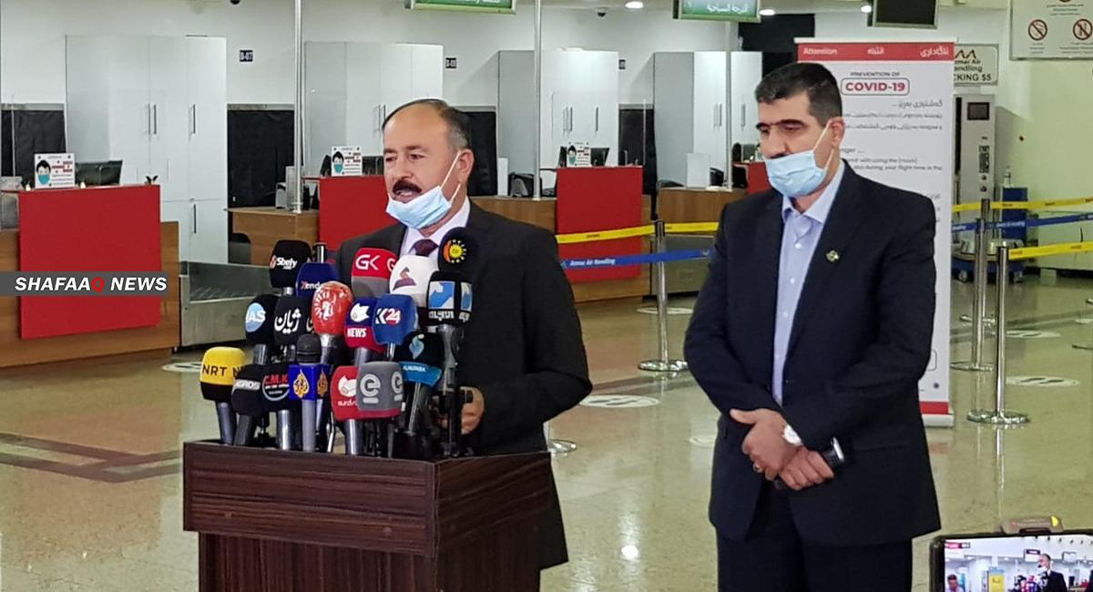 """صور من مطار السليمانية مع عودة الرحلات.. """"سافر وفق هذه الشروط"""""""