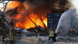 مرفأ بيروت يشتعل مجدداً بعد الانفجار الهائل