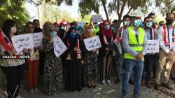 مهندسو كركوك يجددون تظاهراتهم امام مبنى المحافظة