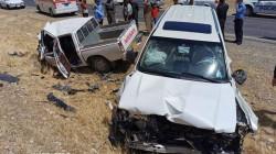 مصرع وإصابة 8 أشخاص بحادثي سير في ديالى
