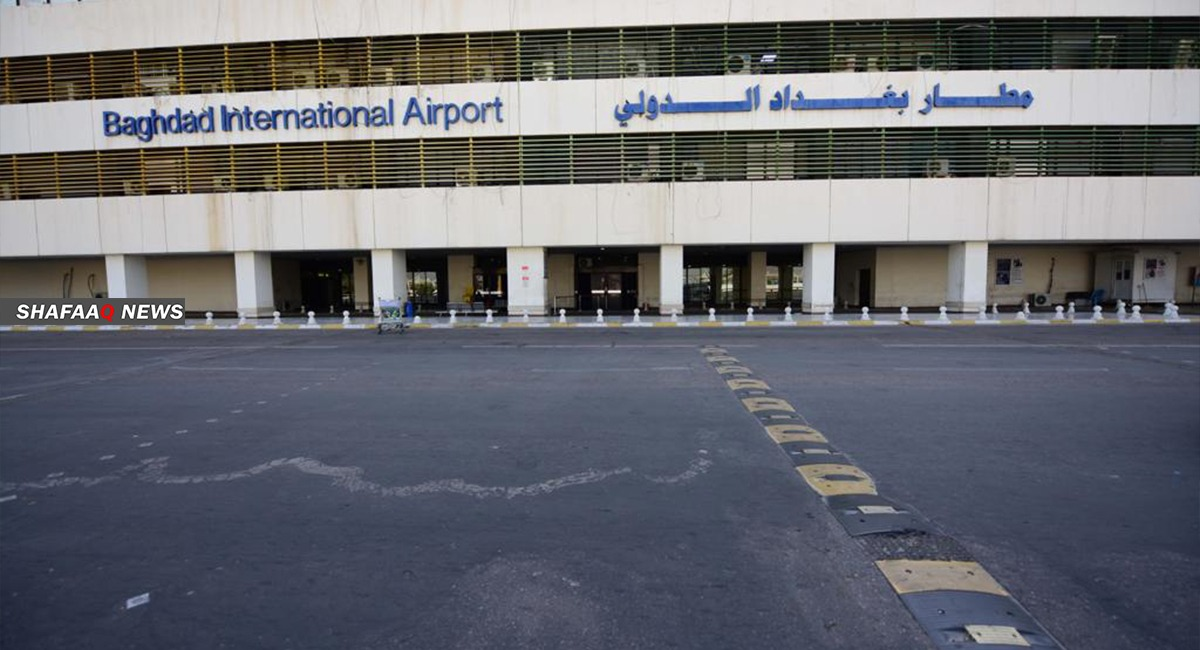 احتراق عجلات بقصف مطار بغداد الدولي