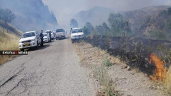 Turkish bombardment ignites fire in local farms in Duhok