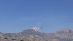 الطائرات التركية تقصف قمة جبل شمال دهوك