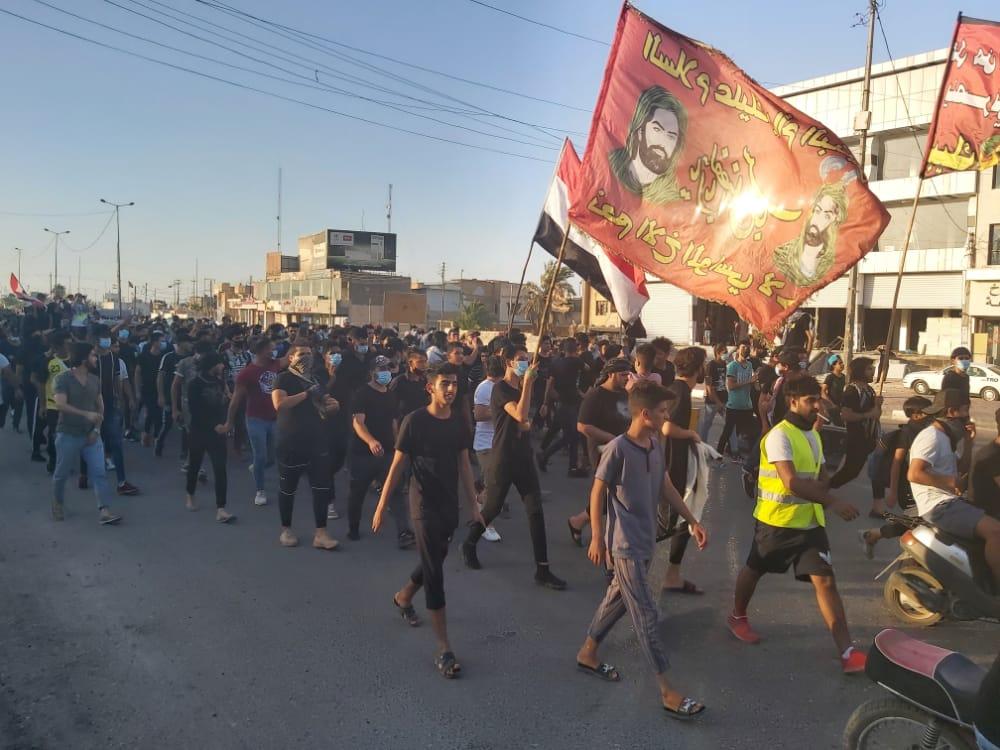 وسط انتشار أمني مكثف.. تظاهرات في البصرة للكشف عن قتلة الناشطين