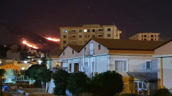 حريق كبير بجبل کویژە والسليمانية تخلي بشكل عاجل مجمعاً سكنياً