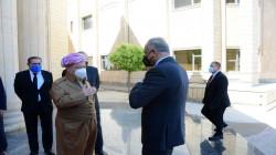 الكاظمي يجتمع مع الزعيم الكوردي مسعود بارزاني