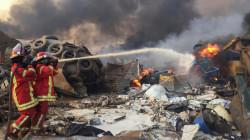 فيديو.. حريق ضخم في مرفأ بيروت يثير الرعب