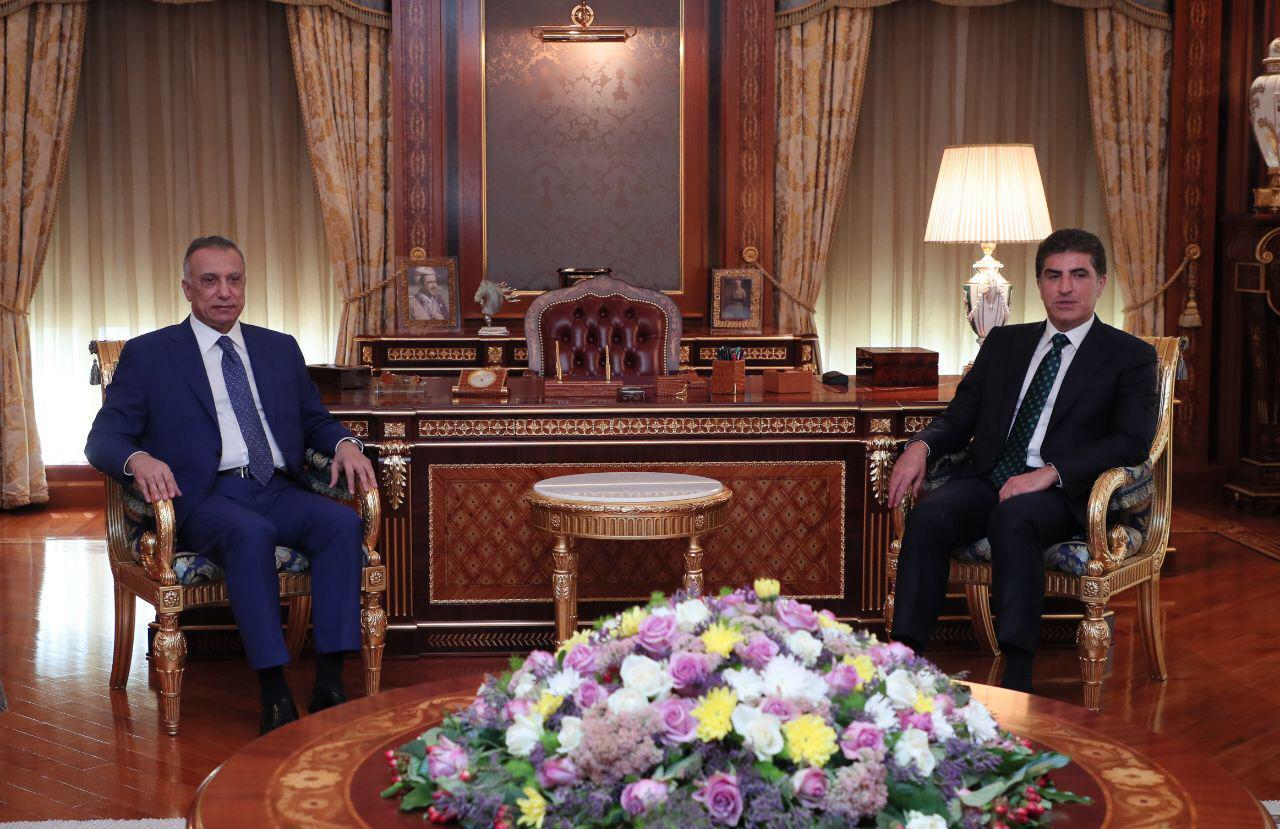 رئاسة الإقليم تعلن تفاصيل اجتماع نيجيرفان بارزاني والكاظمي