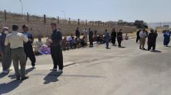 الكاظمي يلتقي فلاحي السليمانية بعد استقباله بتظاهرة