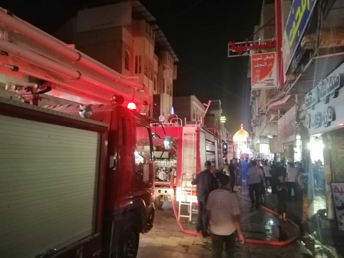 انقاذ 43 نزيلاً حاصرتهم النيران بفندق في النجف