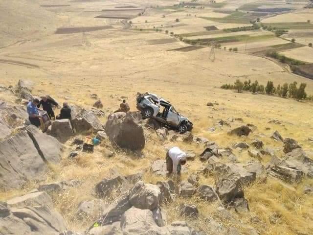 مصرع واصابة ثمانية اشخاص بحادث سير مروع في السليمانية