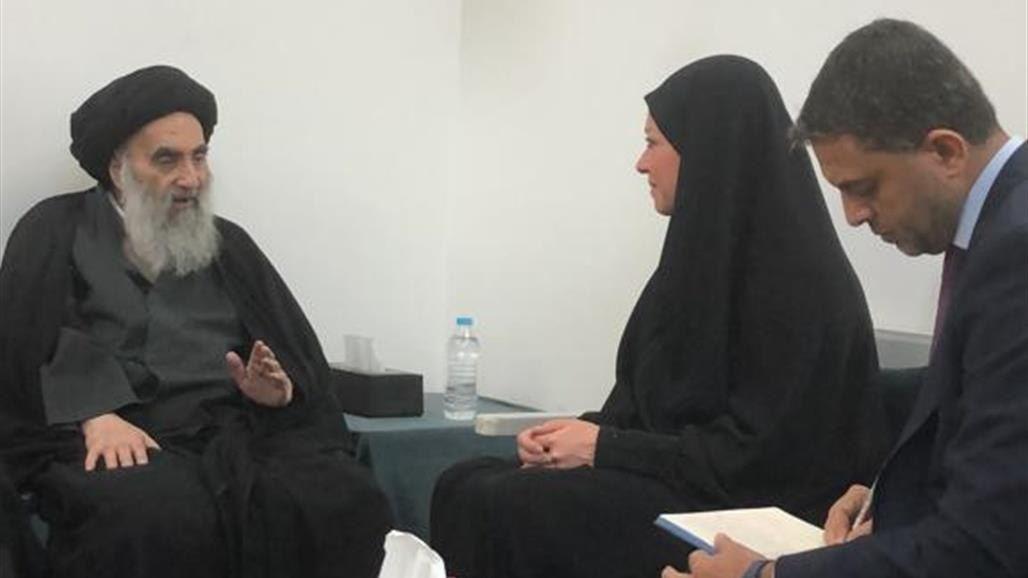 السيستاني يؤيد اجراء الانتخابات المبكرة في موعدها بالعراق