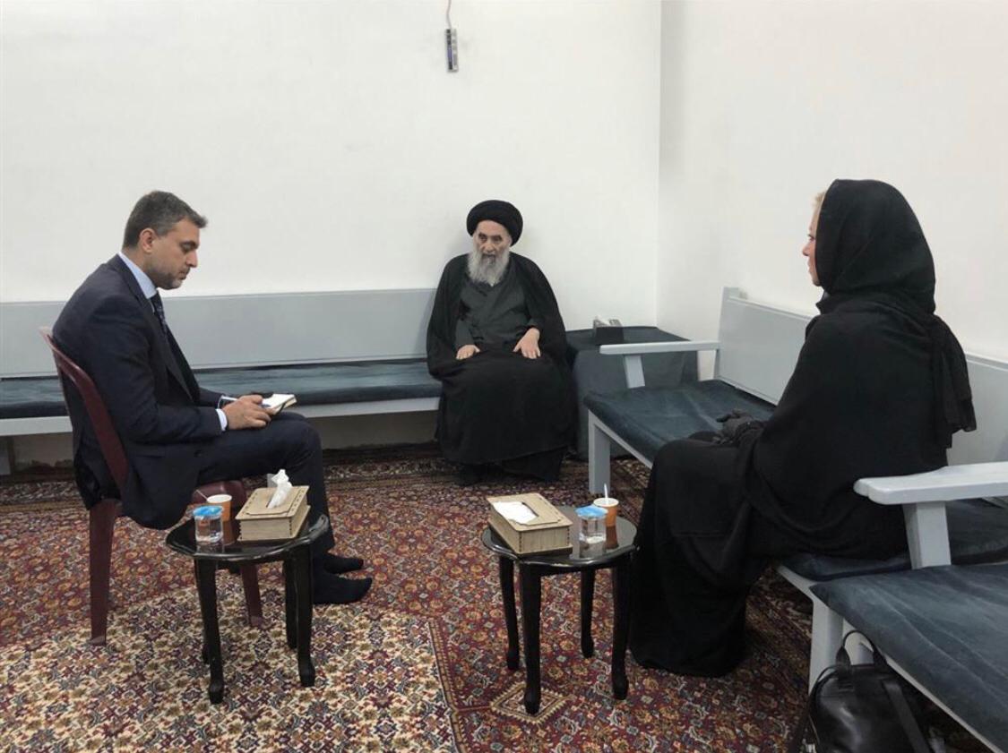 شفق نيوز تنشر نص بيان السيستاني عقب استقباله بلاسخارت