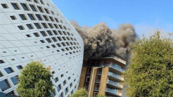 Zaha Hadid' building broke out in Beirut