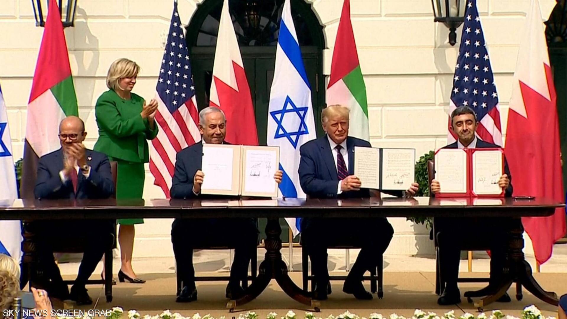 رسمياً.. الإمارات وإسرائيل توقعان اتفاق التطبيع